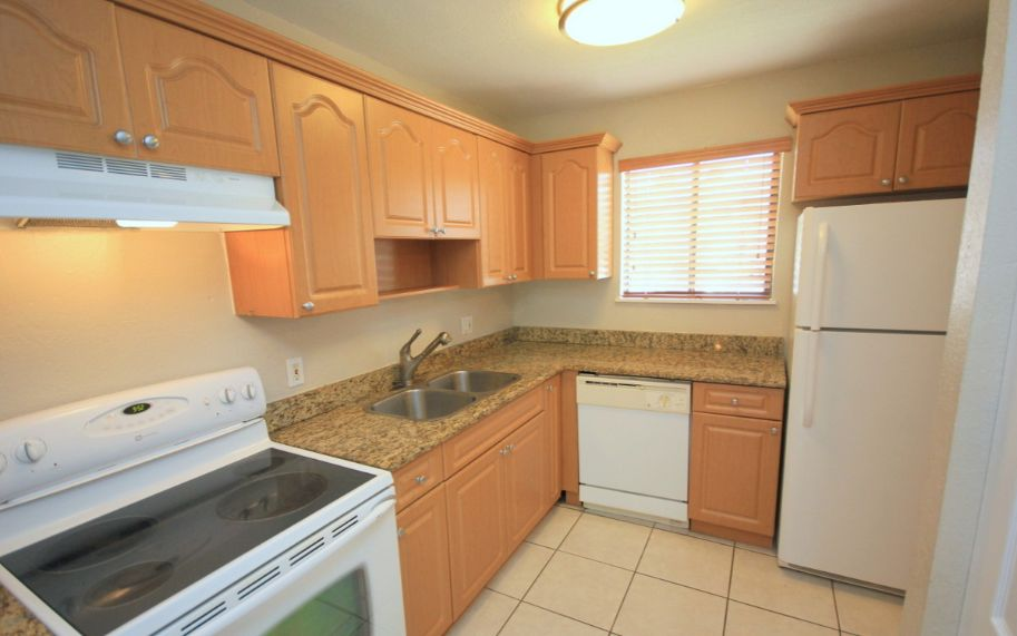 kitchen has upgraded cabinets